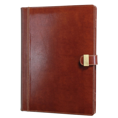 70888 Dulwich Designs brown leather document A4 folder